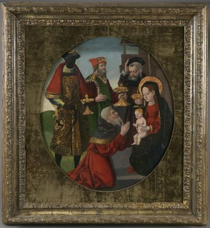 École ESPAGNOLE, vers 1520 Adoration des...