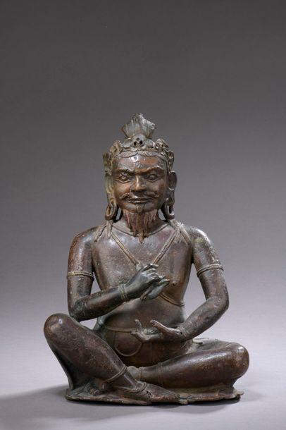 TIBET - XVIe siècle Grande statuette de Pandita...