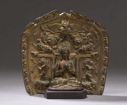 TIBET - XVIe siècle Statuette en bronze de...