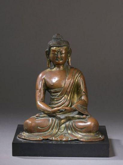 TIBET - XVIe/XVIIe siècle Statuette de bouddha...