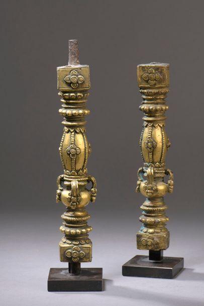 TIBET - XVIe/XVIIe siècle Deux stèles en...
