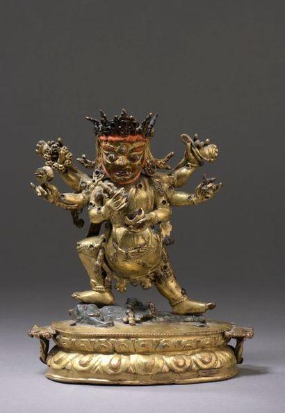 TIBET - XVIIe siècle Statuette en bronze...