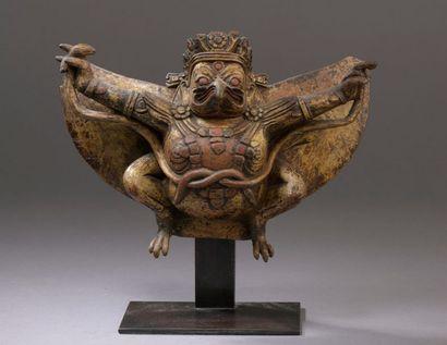 TIBET - XVIIIe siècle Statuette de Garuda...