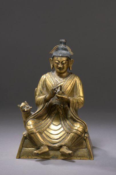 TIBET - XVIIIe siècle Statuette en bronze...