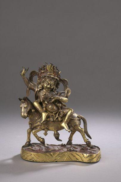 TIBET - XVIIIe siècle Statuette de Sridevi...