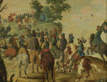 Attribué à Pieter SNAYERS (1592- 1667) Rencontre...