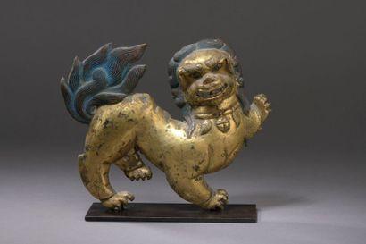 TIBET - XVIIIe siècle Lion des neiges en...