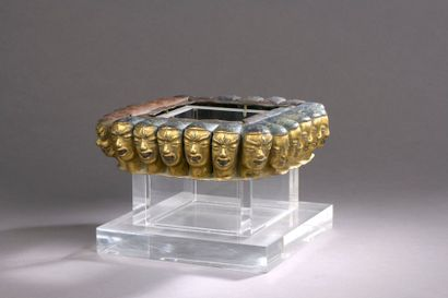 TIBET - XVIIIe siècle Partie de base en cuivre...