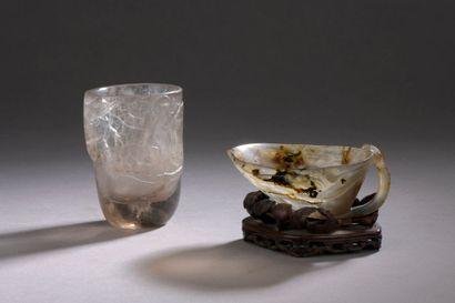 CHINE - XIXe siècle Coupe en cristal de roche...