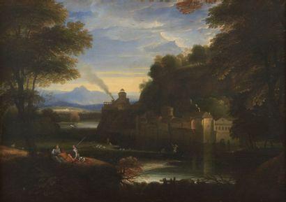 Attribué à Charles HÉRAULT (1644-1718) Bergers...