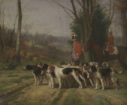 Albert de BALLEROY (1828-1873) Le valet de...