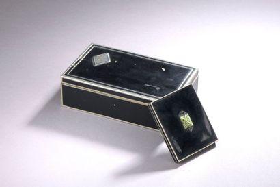 COFFRET à cigarettes rectangulaire en métal...