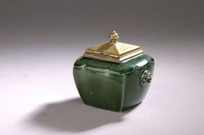 Théodore DECK (1823 - 1891) ENCRIER en céramique...