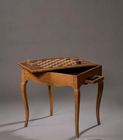 TABLE TRIC-TRAC en bois fruitier et bois...