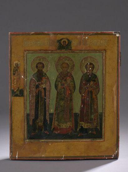 Icône représentant les Trois Saints Hiérarques...