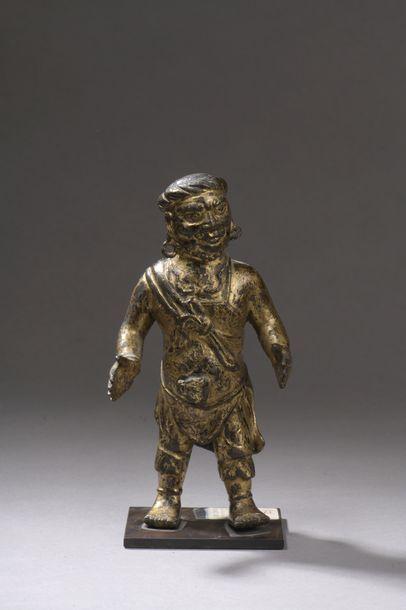 MONGOLIE - XVIIe siècle Statuette d'homme...