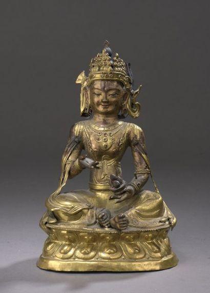 MONGOLIE - XVIIIe/XIXe siècle Statuette de...