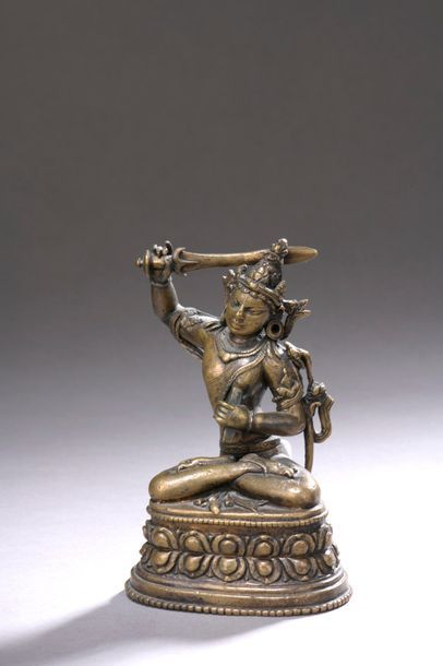 INDE - XIIe/XIIIe siècle Statuette en bronze...