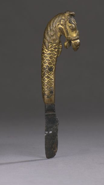 INDE - XVIIIe siècle Couteau à beurre en...