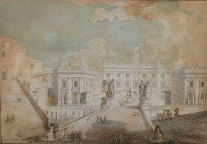 École FRANÇAISE du XVIIIe siècle Rome, le...