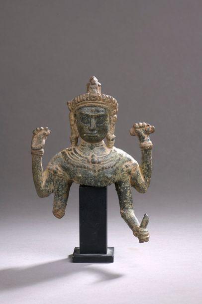 CAMBODGE - XIIIe siècle Partie de buste de...