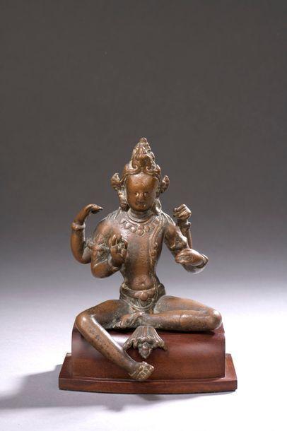 NÉPAL - XIe/XIIe siècle Statuette de boddhisattva...
