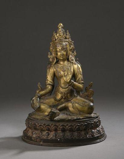 NÉPAL - XVIe siècle Statuette de Sitara ou...