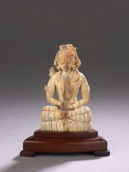 NÉPAL - XVIe/XVIIe siècle Statuette de bouddha...