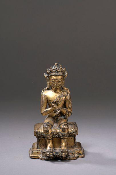NÉPAL - XVIIe/XVIIIe siècle Statuette en...
