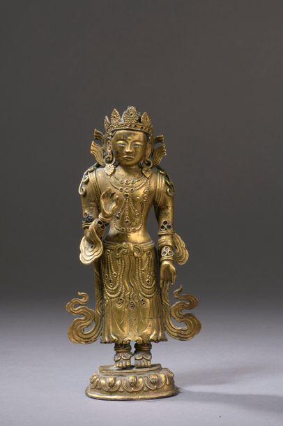 BOUTHAN - XVIIIe siècle Statuette du boddhisattva...