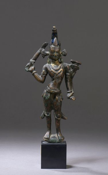TIBET - XIIe/XIIIe siècle Statuette de Manjusri...
