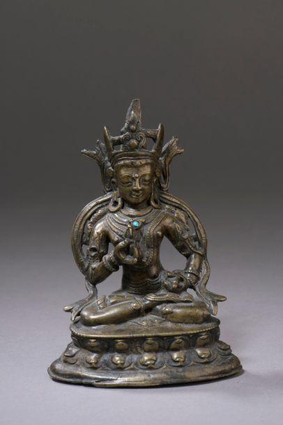 TIBET - XVe siècle Statuette de Vajrasattva...