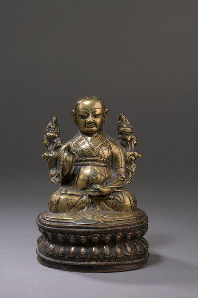 TIBET - XVe siècle Statuette en laiton de...