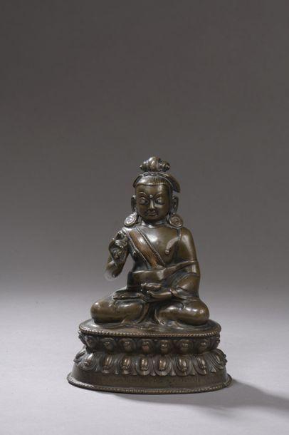 TIBET - XVe/XVIe siècle Statuette de Yogi...