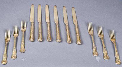 ANGLETERRE Six fourchettes et six couteaux...