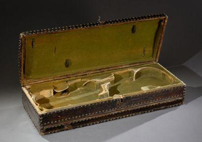 Rare boîte double de violons du XVIIIe siècle,...