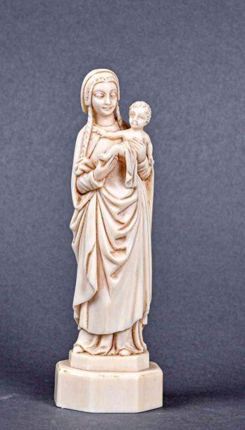 ** Francis MIGEON, né en 1927 Vierge à l'enfant...