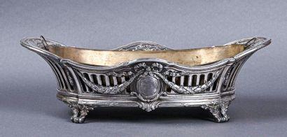 Jardinière centre de table ovale en bronze...
