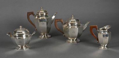 Service à thé et café en argent balustre...