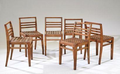 René GABRIEL (1890-1950) Suite de six chaises...