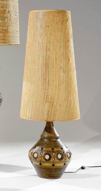 Georges PELLETIER (né en 1938) Lampe balustre...