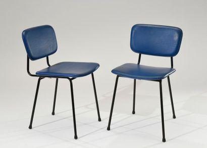 Travail des années 1950 Paire de chaises,...