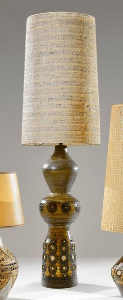 Georges PELLETIER (né en 1938) Lampe en céramique...