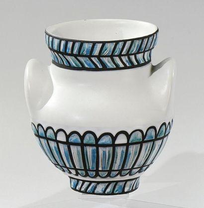 Roger CAPRON (1922-2006) Vase balustre à...