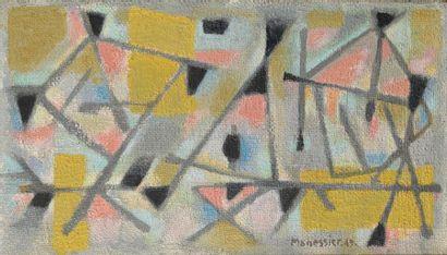 Alfred MANESSIER (1911-1993) Paysage picard, 1949 Huile sur toile, signée et datée...