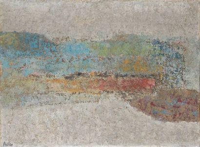 Albert BITRAN (1931-2018) Sans titre, 1955 Huile sur toile, signée en bas à gauche,...
