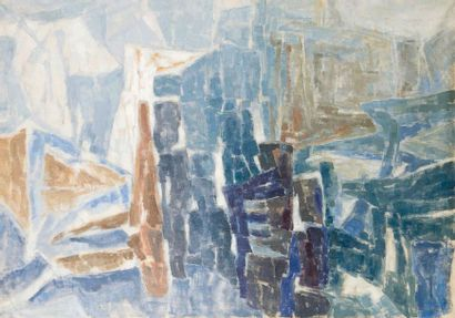 Paul Kallos (1928-2001) Sans titre, 1956 Huile sur toile, signée et datée en bas...