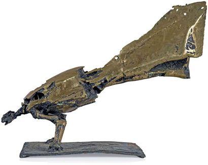 César (1921-1998) Les pieds au mur dits la Poule paon, 1956/1979 Épreuve en bronze...