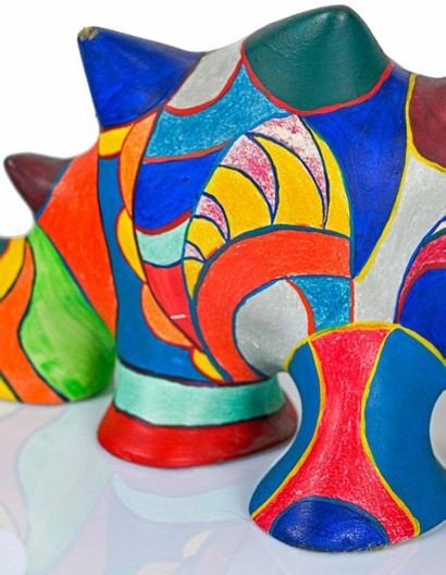 Niki de Saint Phalle (1930-2002) Dragon, circa 1980 Sculpture in resin painted in...
