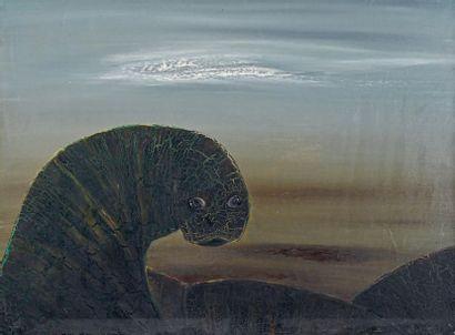 Colette CREUZEVAULT (1931-2019) Untitled Oil on canvas, monogrammed on the back....